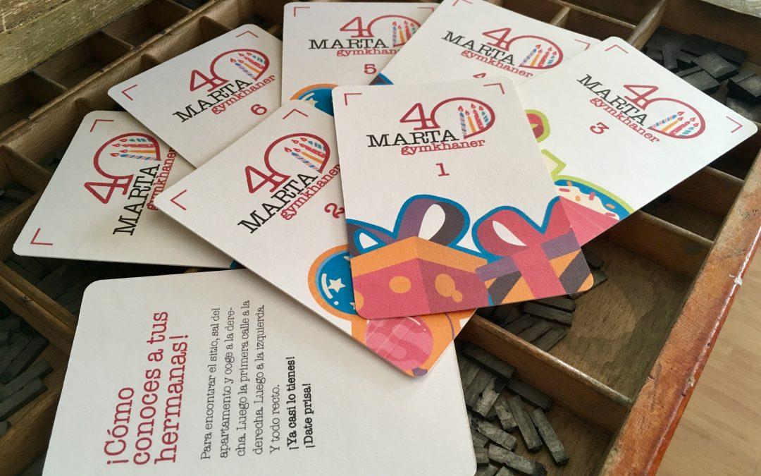 Nuevo curso, nuevas ideas: Tarjetas artesanales para una gymkhana cumpleañera
