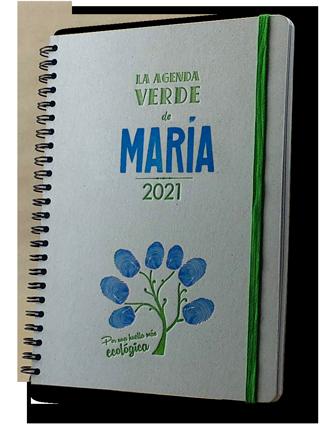 Portada Agenda personalizable impresa artesanalmente en letterpress color azul