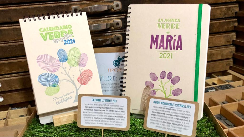 Calendarios y agendas verdes para disfrutar de 2021