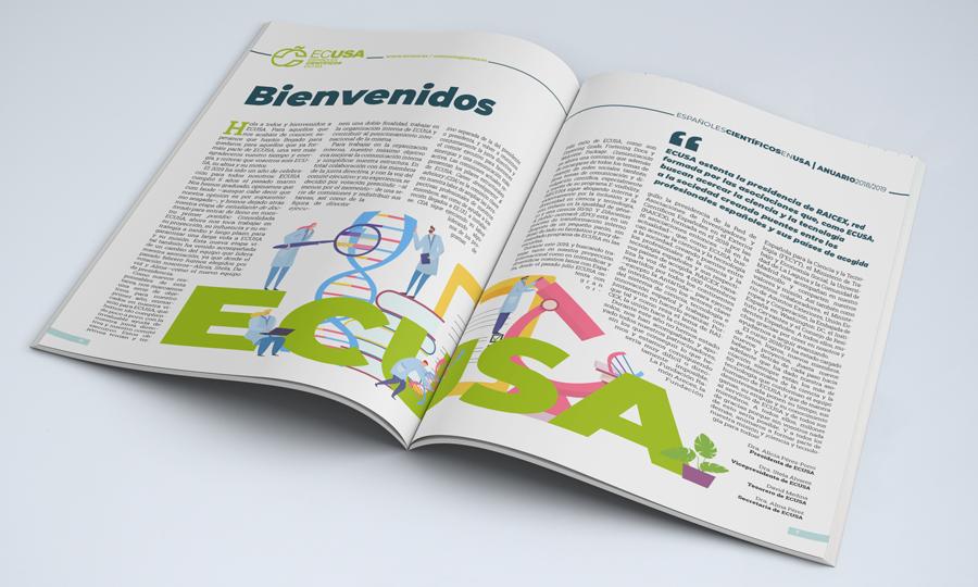 Mockup de la revista del anaurio de ECUSA del año 2020