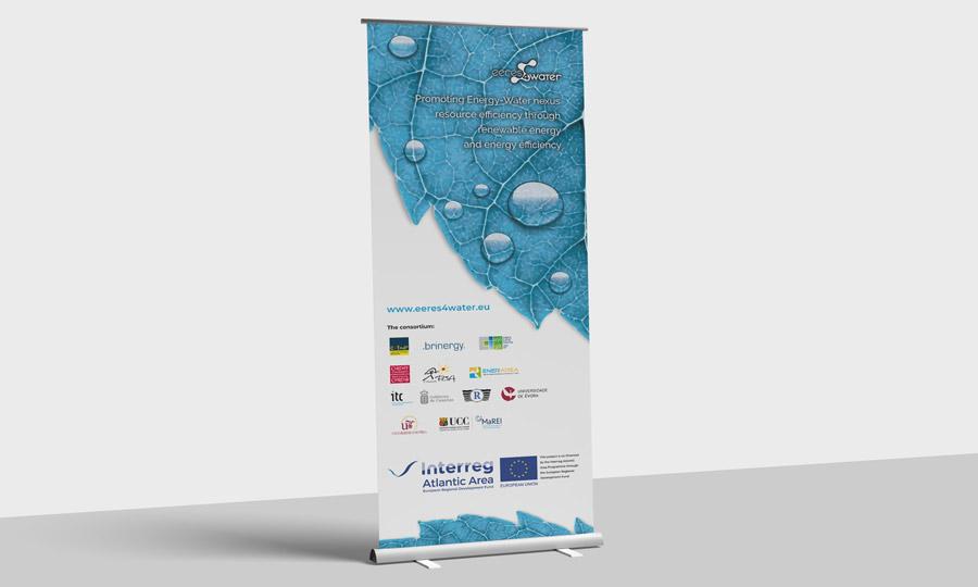 Rollup de presentación del proyecto europeo EERES4WATER realizado para la CTA