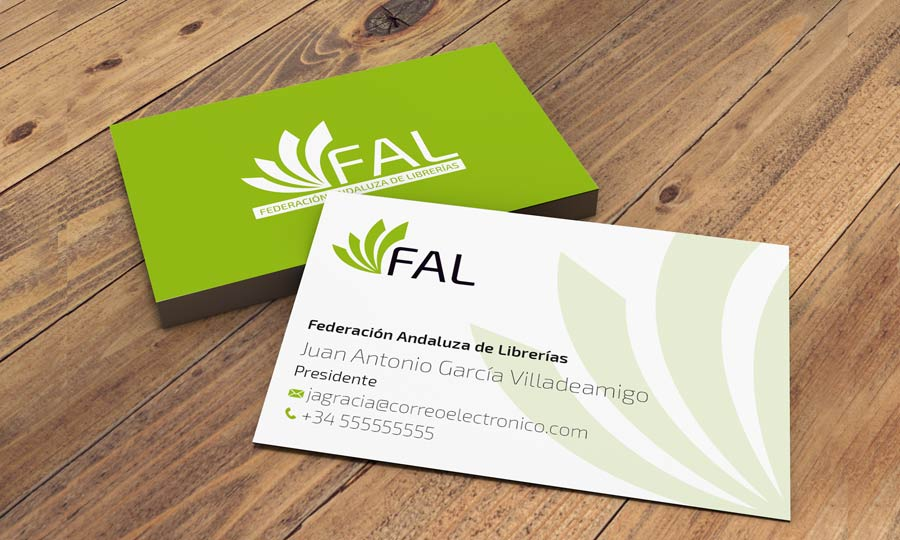 tarjeta de visita de la FAL